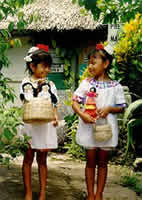 Two girls in the Garcia Sisters' village
